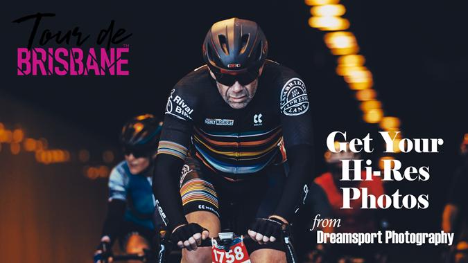 2021 Tour de Brisbane get your photos advert copy